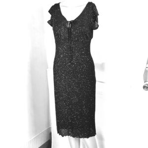 Rampage Black Glittering Cocktail Dress Size S